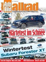 Gesamtsieg für den Subaru Forester im Härtetest
