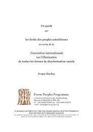 Un guide sur - Forest Peoples Programme