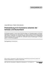 Preiswerbung im E-Commerce zwischen der Schweiz und ...