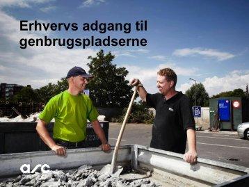 Bortskaffelse via genbrugspladser v/Helena Nielsen, ARC