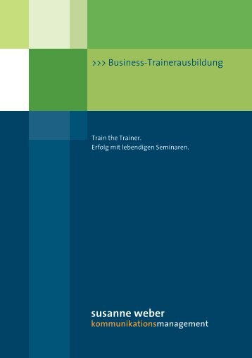 Business-Trainer Broschüre - Seminarmarkt