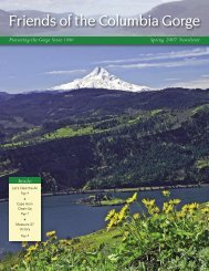 Spring 2007 - Friends of the Columbia Gorge