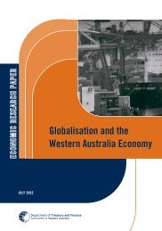 Globalisation and the Western Australian Economy - Department of ...