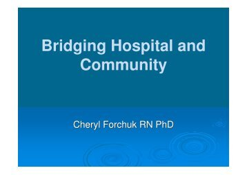 Bridging Hospital and Community - Horatio