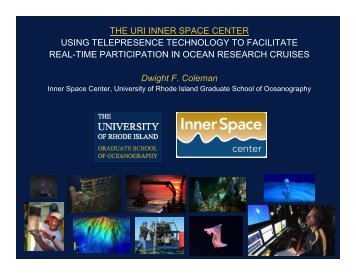 THE URI INNER SPACE CENTER USING ... - UNOLS!