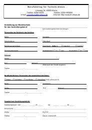 Anmeldung Zweijährige Berufsfachschule - Berufskolleg für Technik ...