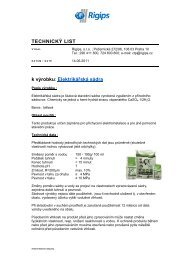 Elektrikářská sádra - Rigips