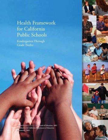 Health Framework for California Public Schools - Multiple Choices