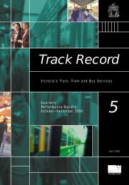 Track Record 5, October to December 2000 - Public Transport Victoria