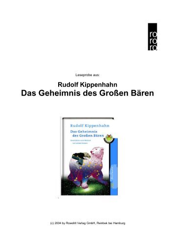 Rudolf Kippenhahn Das Geheimnis des Großen Bären - fuxx-online.de