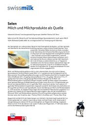 Selen. Milch und Milchprodukte als Quelle - Swissmilk