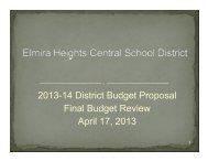 04/17/13 Budget Presentation - Elmira Heights Central School District