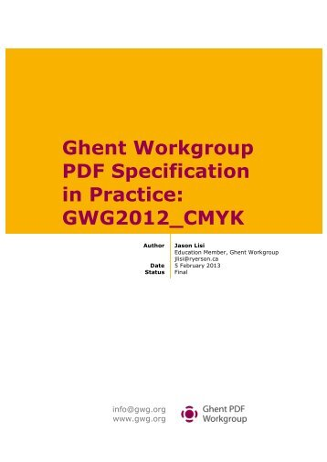 Download the white paper - Ghent Workgroup