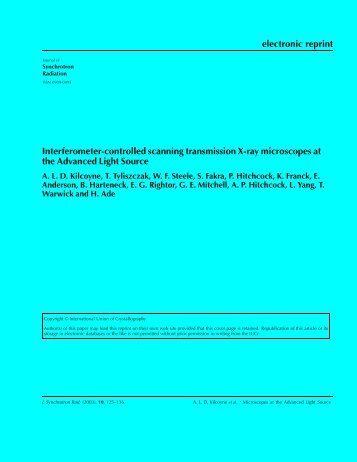 electronic reprint Interferometer-controlled scanning transmission X ...