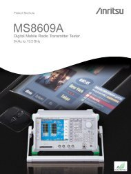 Anritsu MS8609A: Digital Mobile Radio Transmitter Tester - elsinco