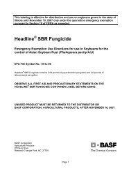 Headline SBR Fungicide - Illinois Department of Agriculture