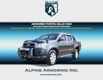 ARMORED TOYOTA HILUX VIGO - Alpine Armoring Inc.
