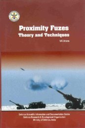 Proximity fuzes: Theory and Techniques - DRDO