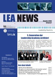 LEA NEWS Ausgabe 2/2008 - Leadership Academy