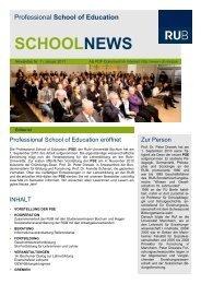 schoolnews - Professional School of Education - Ruhr-Universität ...