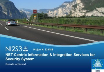NET-Centric Information & Integration Services for Security System