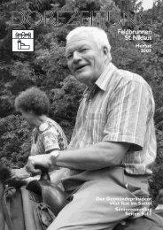 Dorfzeitung Sommer/Herbst 2007 - Feldbrunnen