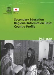 Secondary education regional information base: country profile ...