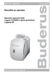 Navodila G125 SE - Buderus