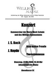 Konzert - Bischöfliches Willigis Mainz