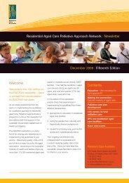 RACPAN newsletter - December 2009 - Palliative Care Australia