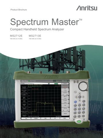Spectrum Master Ms271xe Product Brochure - JM Test Systems