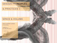 DESIGN PRINCIPLES & PRACTICES 1 SPACE & VOLUME - Users