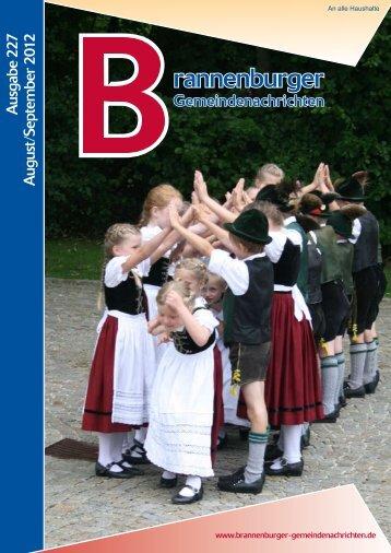 A usgabe 2 27 A ugust/Septem ber 2 012 - Brannenburg