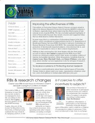 IRBs & research changes - Department of Energy Human Subjects ...