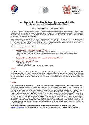 Further Information - British Stainless Steel Association