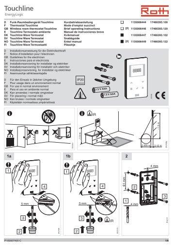 Regelungstechnik Funk-Raumbediengerät Touchline - Roth Werke