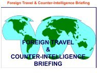Foreign Travel Briefing - Marine Corps Installations East