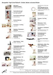 Schulter, Nacken - Yoga Vidya