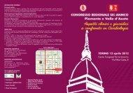 Congresso Regionale SIC-ANMCO Piemonte e Valle D'Aosta ...