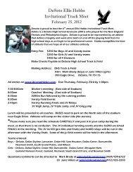 DeSoto Ellis Hobbs Invitational Track Meet - Texas Track & Field ...