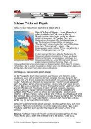 Schlaue Tricks mit Physik - Perlen-Reihe