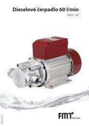 Návod k použití dieselové čerpadlo 60 l/min - FMT Swiss AG