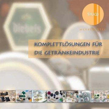"""Katalog """"Komplettlösungen für die Getränkeindustrie ... - STUCO"""