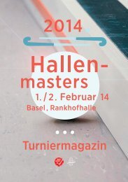 Programmheft Hallenmasters 2014.indd - Basler Hockey Club 1911