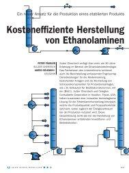 Kosteneffiziente Herstellung von Ethanolaminen