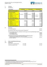 Auszug aus dem Preis- und Leistungsverzeichnis - Volksbank ...