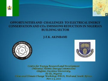 opportunities and challenges to electrical energy conservation and ...