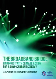 Linking ICT with Climate Action - Broadband Commission