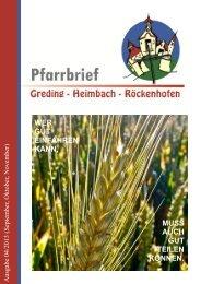 Ausgabe 04/2013 - Pfarrverband Greding