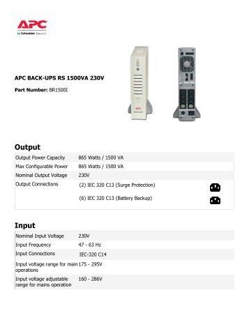 Pro apc 1500 manual pdf